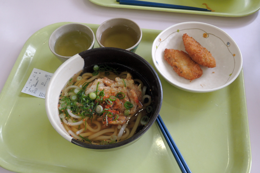 Harga makanan di Jepang - Udon di kantin kampus.