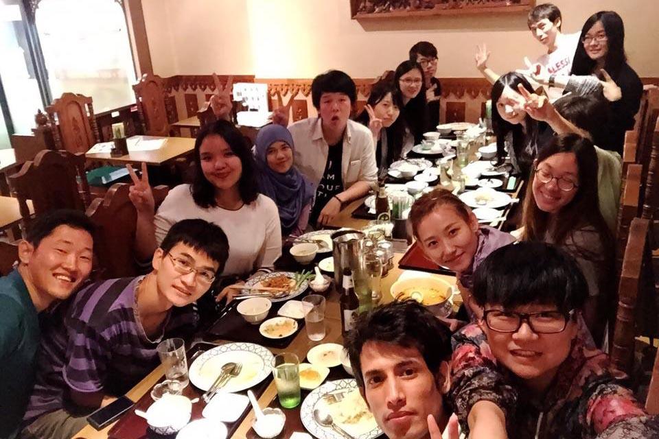 Pengalaman Hidup di Jepang - Makan malam bersama teman sekolah